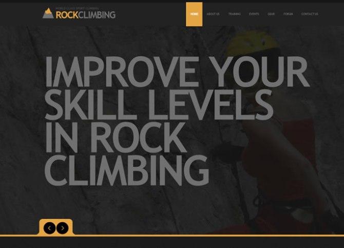 Template 44800 - Climbing Alpinist Flash CMS Template