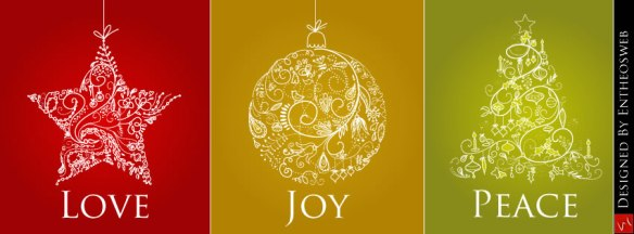 Love, Joy and Peace Christmas Facebook Timeline Cover