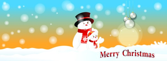 Snow themed christmas facebook timeline cover