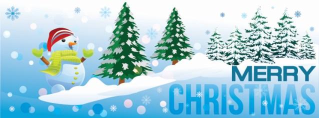 Snowman themed christmas facebook timeline cover