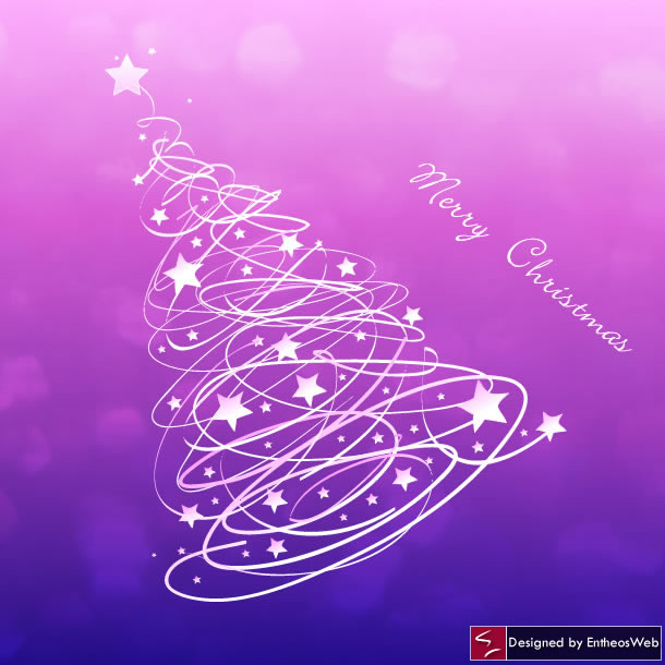 Pink Christmas Tree With Stars