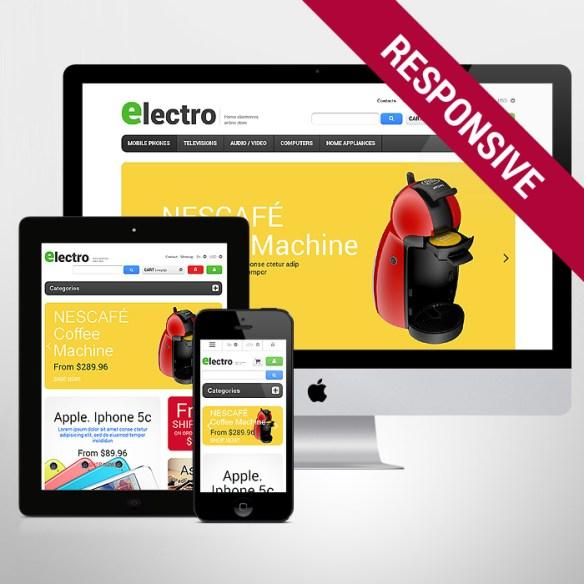 Template 47302 - Electronic Store Responsive PrestaShop Theme