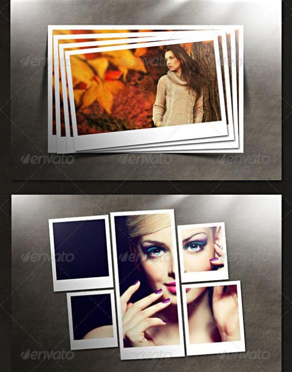 Polaroid Photo Templates Pack