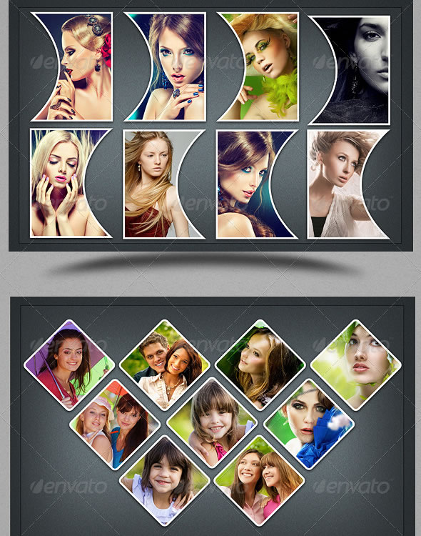 Collage Photo Frame Template Vo 3