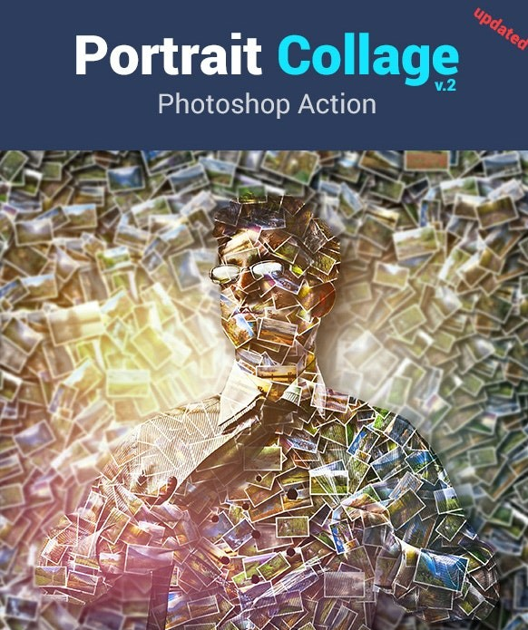 Portrait Collage Photo Effect Photoshop Action