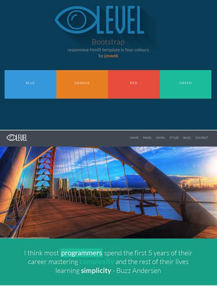 iLevel - Responsive Flat Design Bootstrap Template