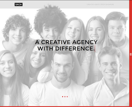 SAGA - Simple One Page Parallax - Responsive HTML5
