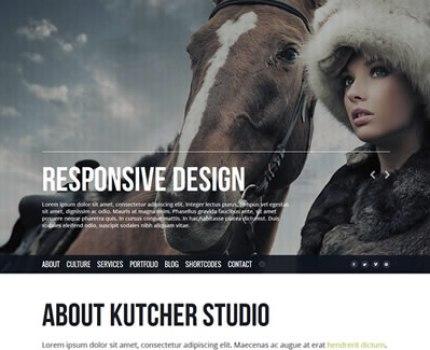 Kutcher Studio - Responsive Parallax Template