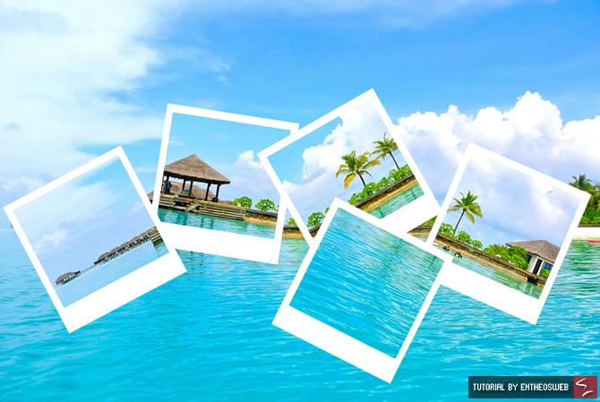 Polaroid Photo Collage with Photoshop