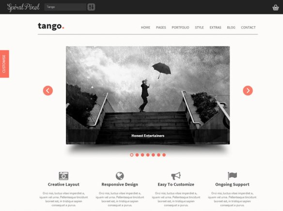 Tango - Bootstrap Responsive Html5 WordPress Theme