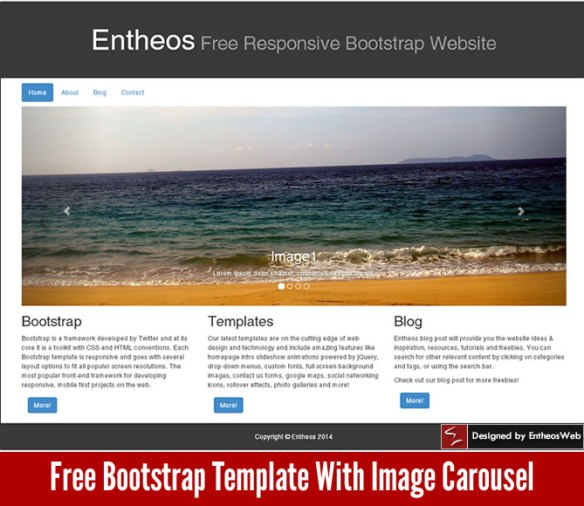Free Bootstrap Template With Image Carousel
