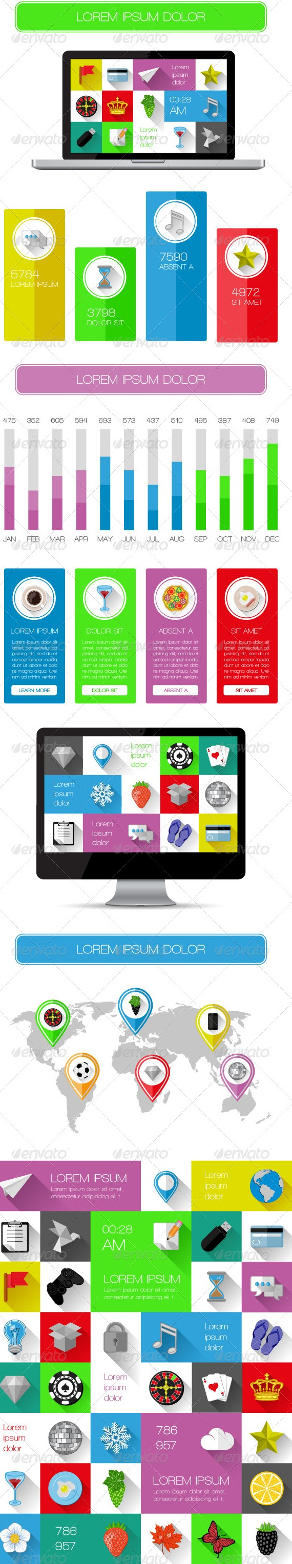 UI Infographics and web elements