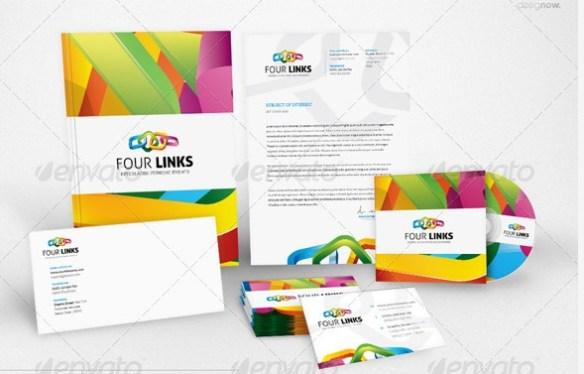 corp-id-four-links-stationery