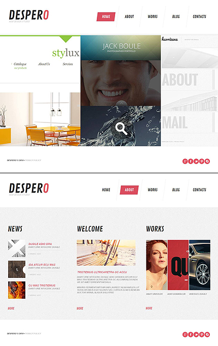 Template 48202 - Creative Design Studio Moto CMS HTML Template