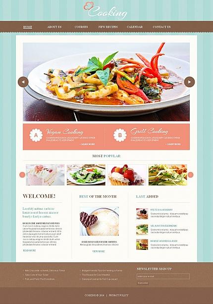 Template 49170 - Gourmet Restaurant Moto CMS HTML Template