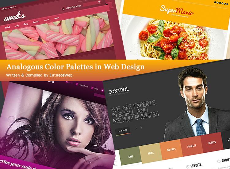 Analogous Color Palettes in Web Design