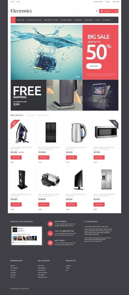 Template 50735 - Electronic Store Responsive PrestaShop Theme