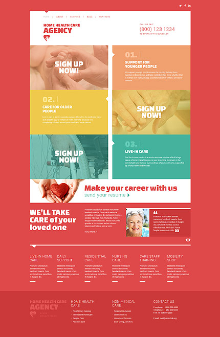 Template 52098 - Home Health Care Responsive Joomla Template