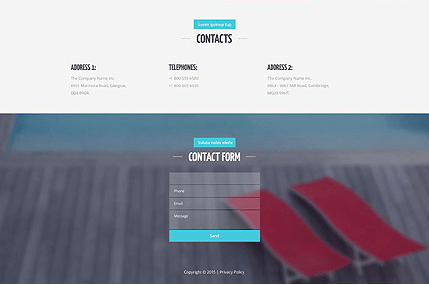Footer for Template 53446 Swimming Club Responsive Website Template