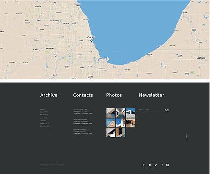 footer for Template 52833 - Construction Architecture Responsive WordPress Theme