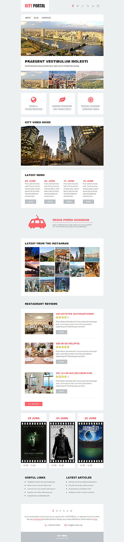 Template 52901 - City Portal Responsive Newsletter Template