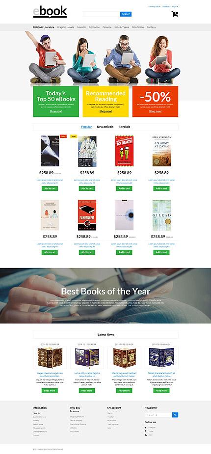Template 53956 - Ebooks Store Responsive PrestaShop Theme