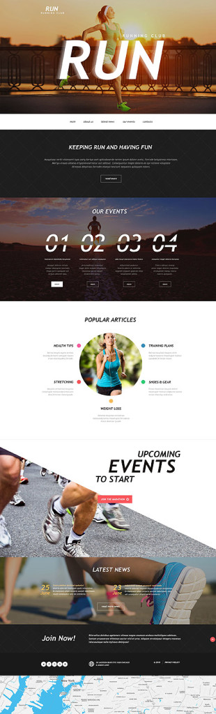 Template 54782 - Running Club Muse Template