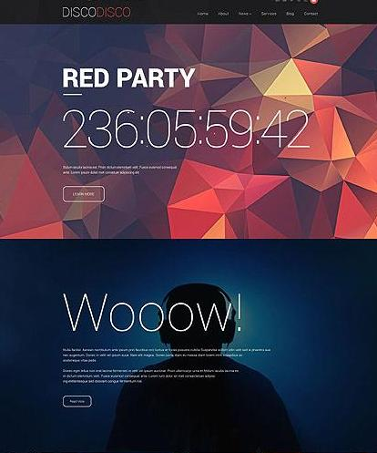 Disco Responsive Drupal Template with Gallery and Blog