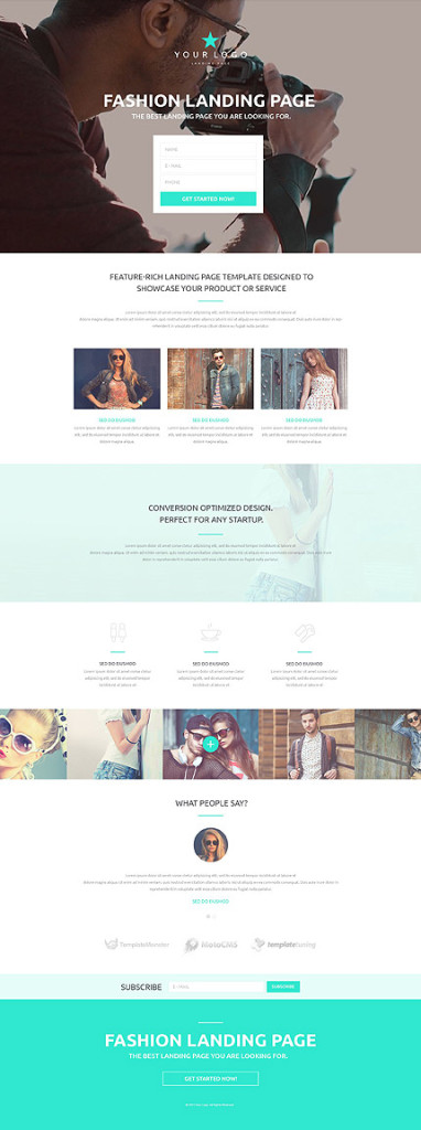 Template 53430 - Fashion Responsive Landing Page Template with Background Video, Parallax, Gallery, Lazy Load Effect, Slideshow