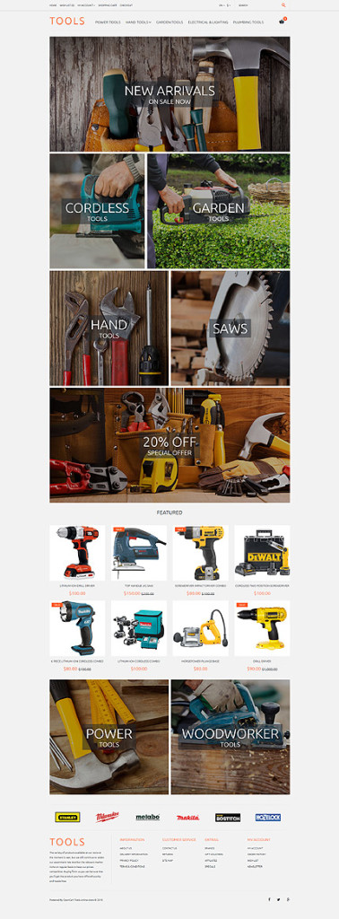 Template 57733 - Tools Store Responsive OpenCart Template