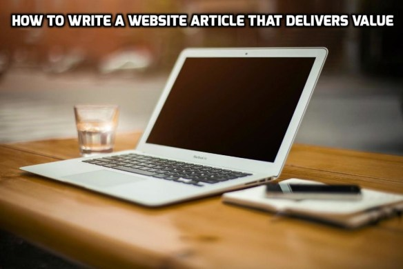 How to write a website article that delivers value