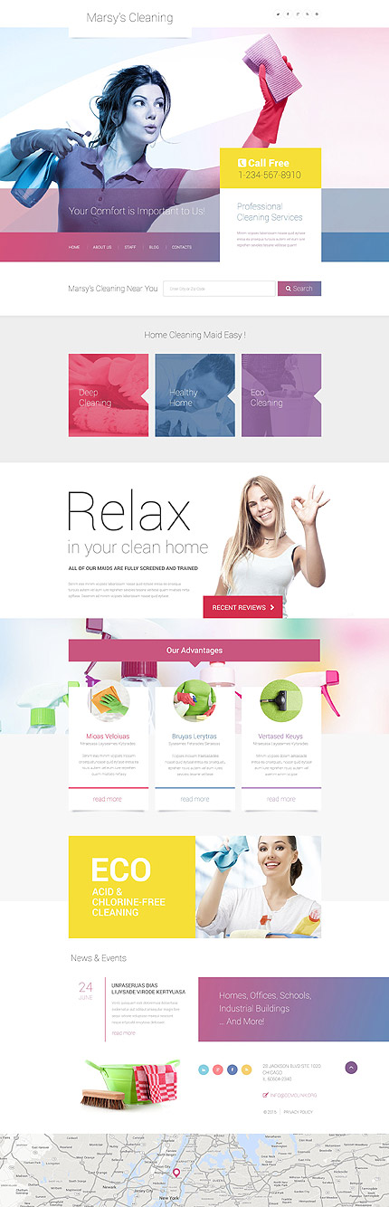 Template 55045 – Marsy's Cleaning Service Responsive WordPress Theme with Gallery and Blog