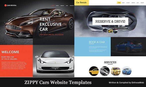 ZIPPY Cars Website Templates
