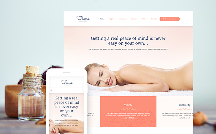 Beauty Spa & Massage Salon Responsive WordPress Theme