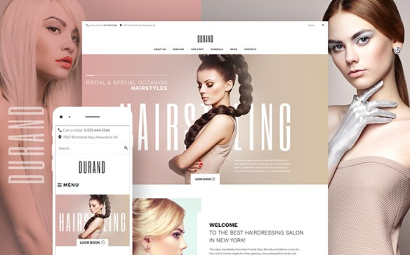 Template 58991- Durand Hair Responsive WordPress Theme