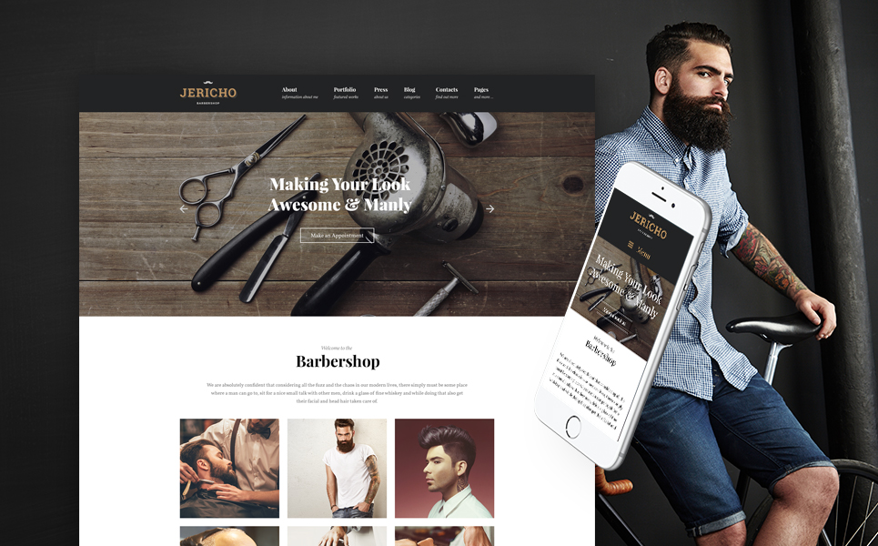 Jericho - Barber Shop Modern WordPress Theme
