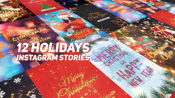 Holidays Instagram Stories Pack - Christmas and New Year Animated Videos