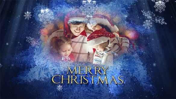 Beautiful Christmas Snowflakes Video Slideshow Animation