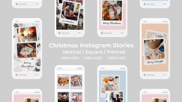 Christmas Instagram Stories | Vertical Square Portrait