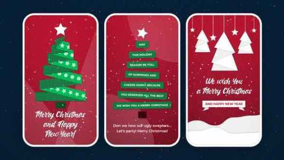 Christmas Instagram Video Stories