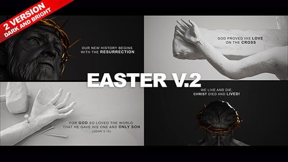 Easter V.2 Video Template - Black & White Narration Theme