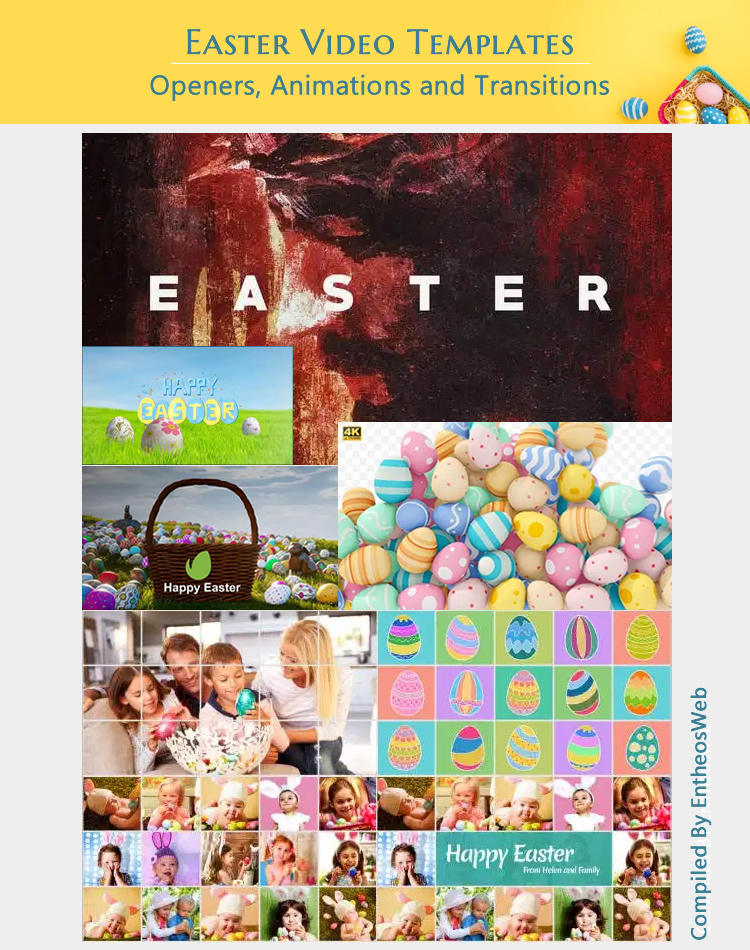 Easter Video Templates - Openers, Animations and Transitions