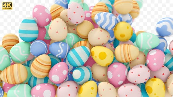 Easter Egg Transition Motion Graphics Video