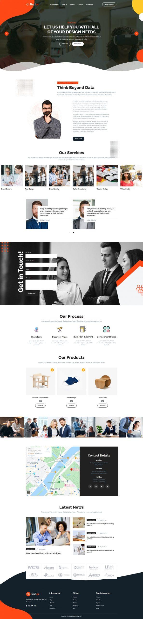 Bartor - Creative Portfolio Website Template