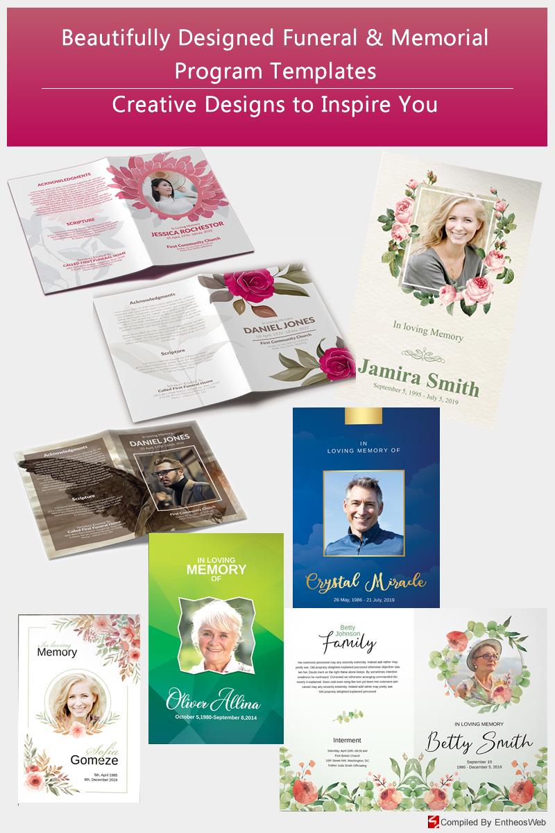 Beautifully Designed Funeral & Memorial Program Templates - Creative Designs to Inspire You