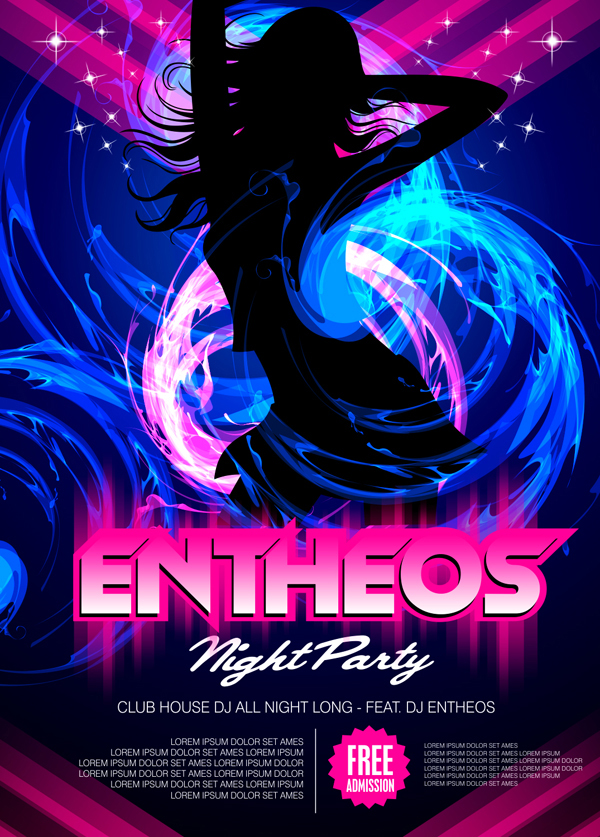 Dance Party Poster Design with CorelDraw