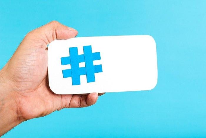 Mobile Hashtag Horizontal Concept