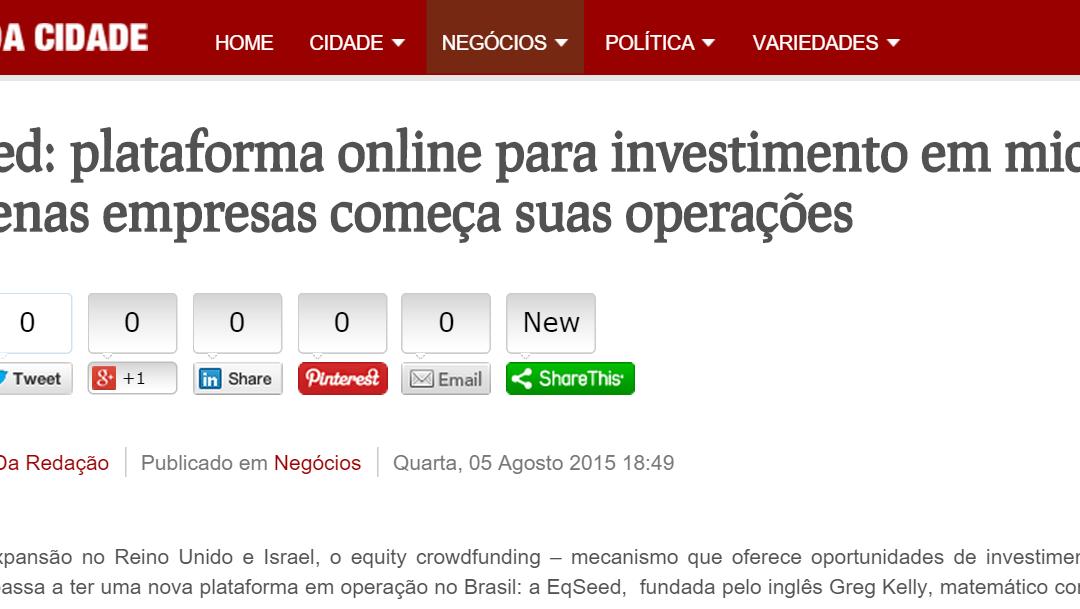 EqSeed: plataforma online para investimento em micro e pequenas empresas