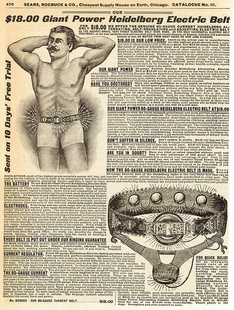 Heidelberg Electric Belt from 1900 Sears Catalog
