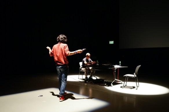"Zafka and J-Fever, ""Spy Voice"" 2014. Performance at RPM: Sound Art China, Hong Kong"